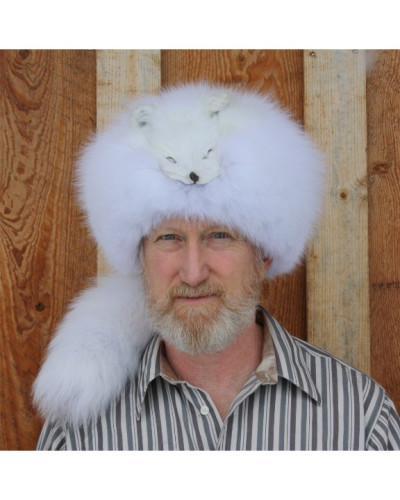ARCTIC FOX FUR DAVY CROCKETT HAT