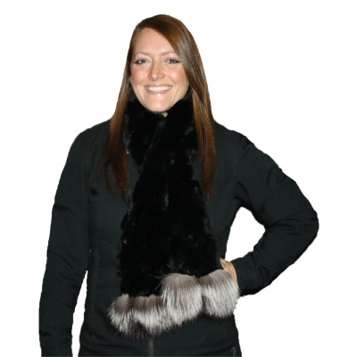 REX RABBIT FUR SCARF #4029