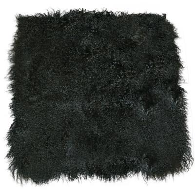 TIBETAN/MONGOLIAN LAMB FUR PLATE BLANKET - BLACK