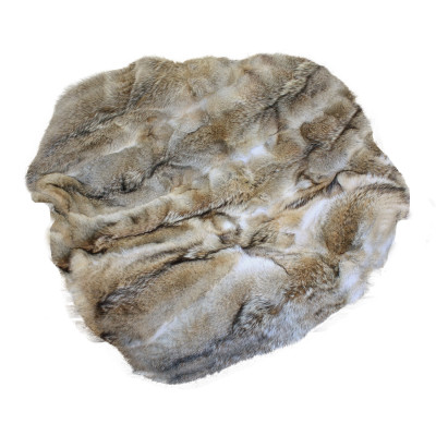 "Coyote Fur Throw Blanket 55"" x 66"""