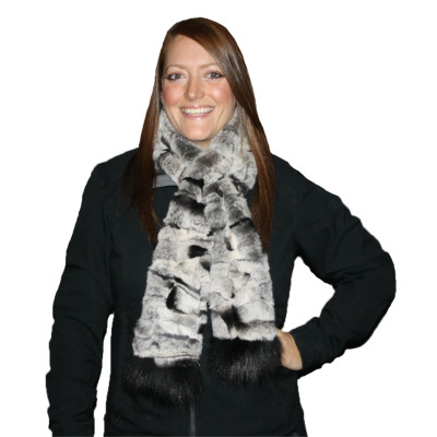 REX RABBIT FUR SCARF #4023