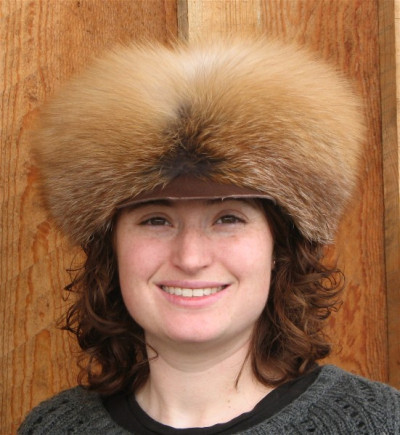 RED FOX FUR FREE TRAPPER HAT