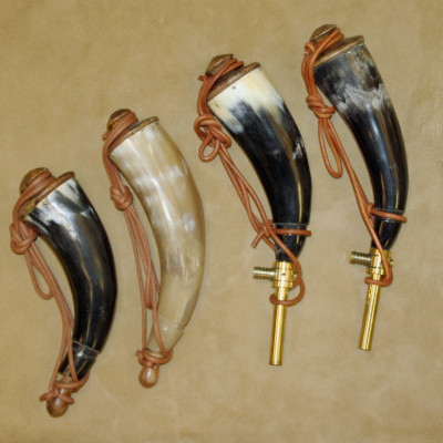 BUFFALO HORN POWDER HORN