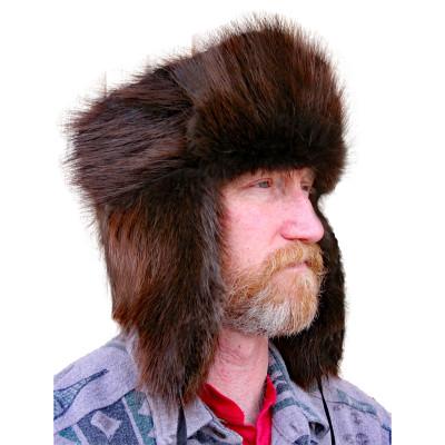BEAVER FUR RUSSIAN TROOPER STYLE HAT