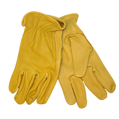 MEN'S DEERSKIN GLOVES - GOLD