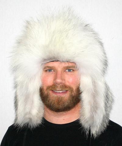 WOLF FUR RUSSIAN TROOPER STYLE HAT