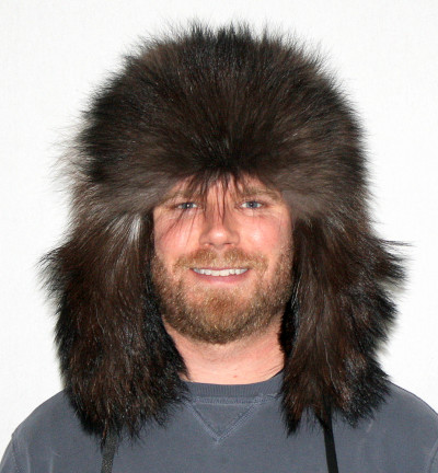 BLACK WOLF FUR RUSSIAN TROOPER STYLE HAT