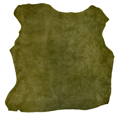 ELK LEATHER - FINISHED SUEDE (LODEN GREEN)