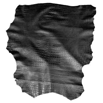 LAMBSKIN - EMBOSSED BLACK
