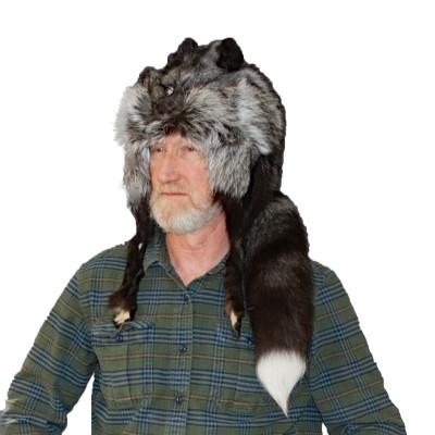 SILVER FOX FUR MOUNTAIN MAN HAT