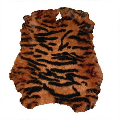 RABBIT HIDES - STENCILED TIGER