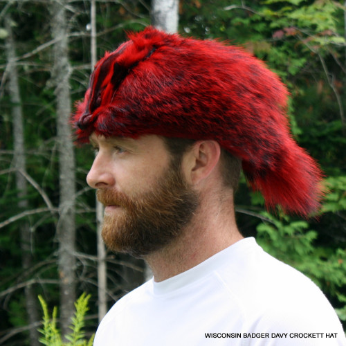WISCONSIN BADGER DAVY CROCKETT HAT