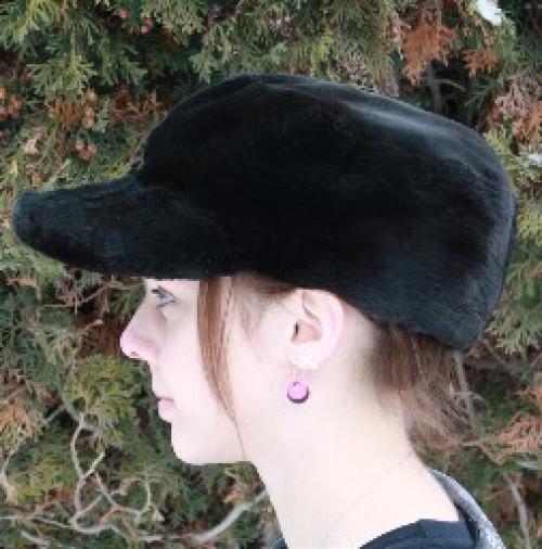 Glacier Wear - Black Dyed Sheared Beaver Fur Baseball Cap For Sale 9fb99b3a6c5