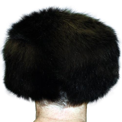 BLACK BEAR FUR FREE TRAPPER HAT
