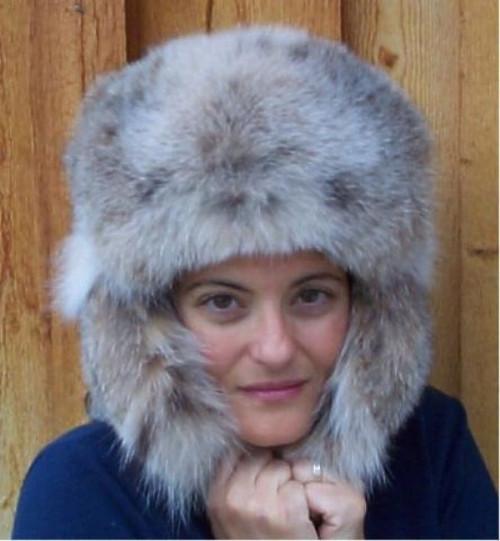 932ddf667b76e Glacier Wear - Lynx Trooper Style Fur Hat For Sale