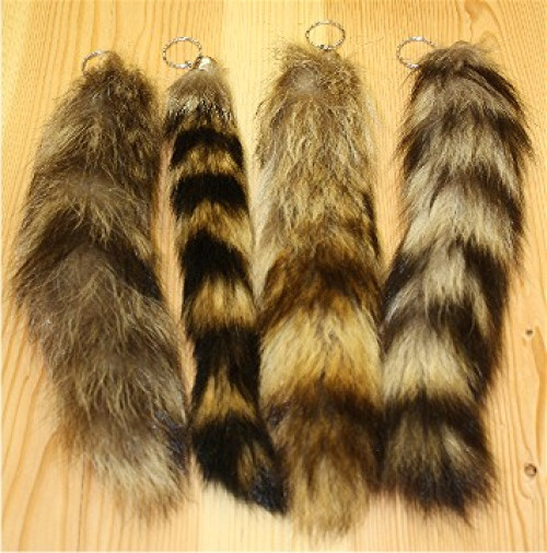 Glacier Wear Raccoon Tail Keychain For Sale