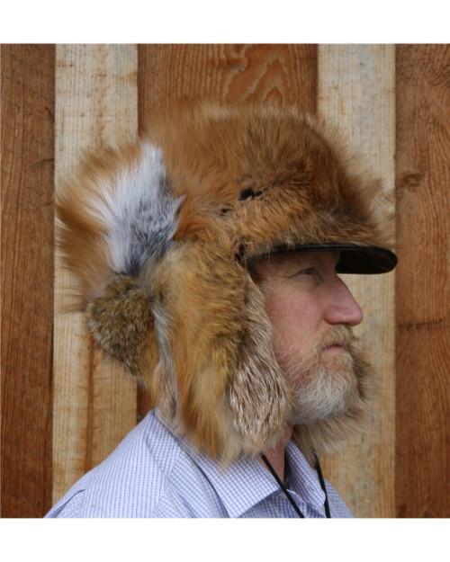 07eb220ad RED FOX FUR ALASKAN TRAPPER HAT