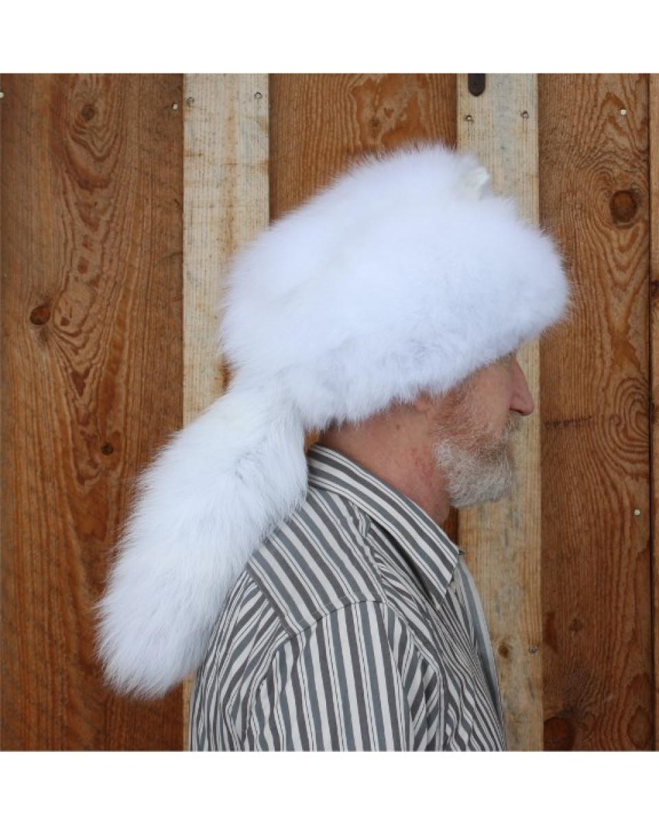 Glacier Wear - Arctic Fox Davy Crockett Style Fur Hat For Sale 55b5028501a3