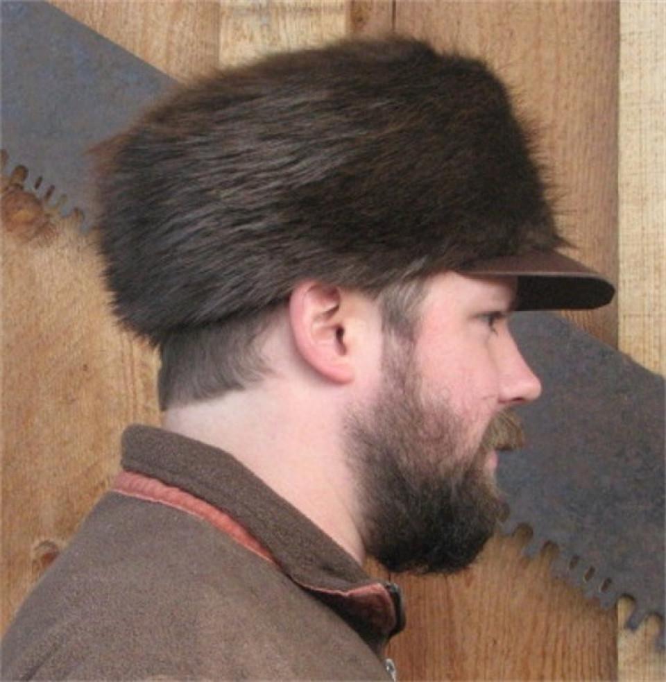6869404dc BEAVER FUR FREE TRAPPER HAT