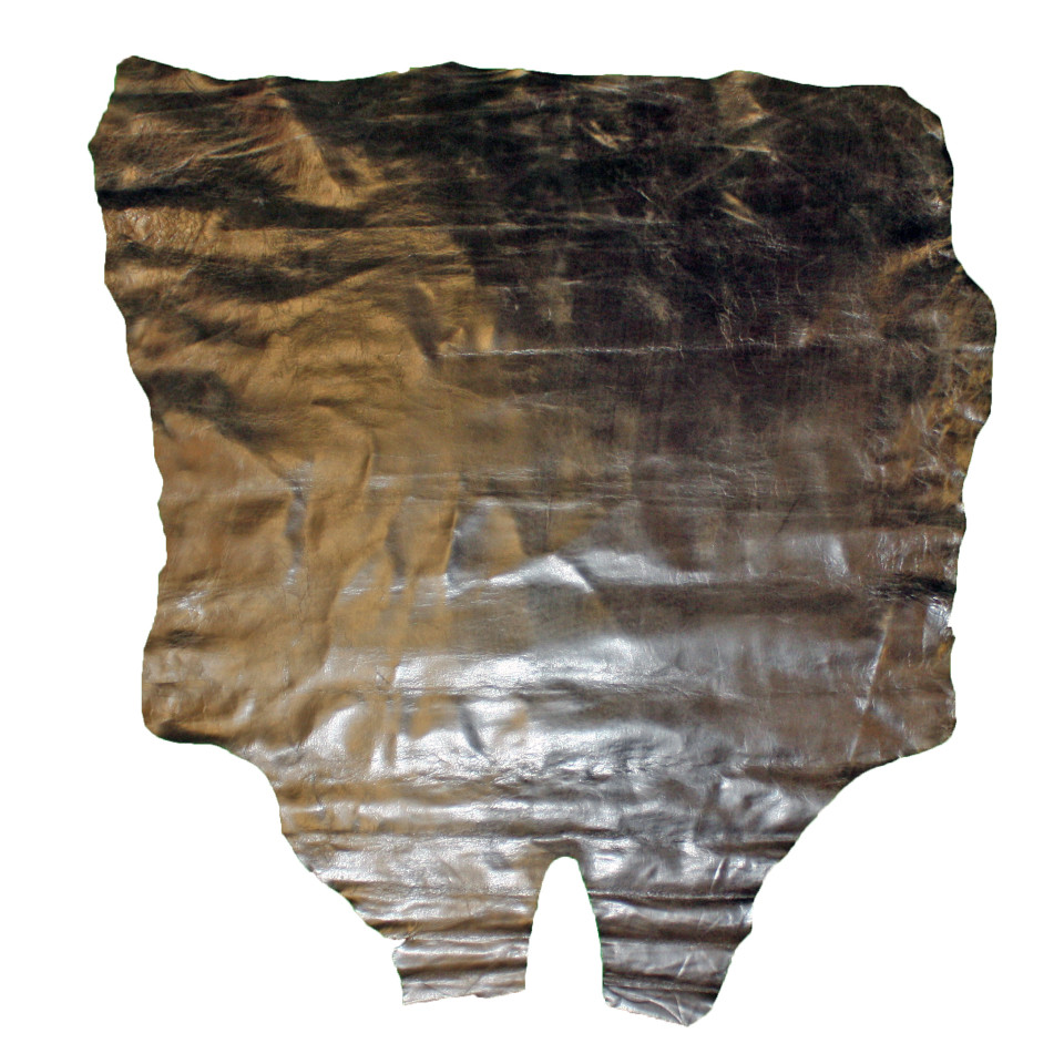 Glacier Wear Distressed Brown Calf Leather Hides For Sale