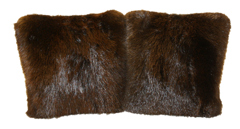 Glacier Wear Natural Beaver Fur Pillow For Sale