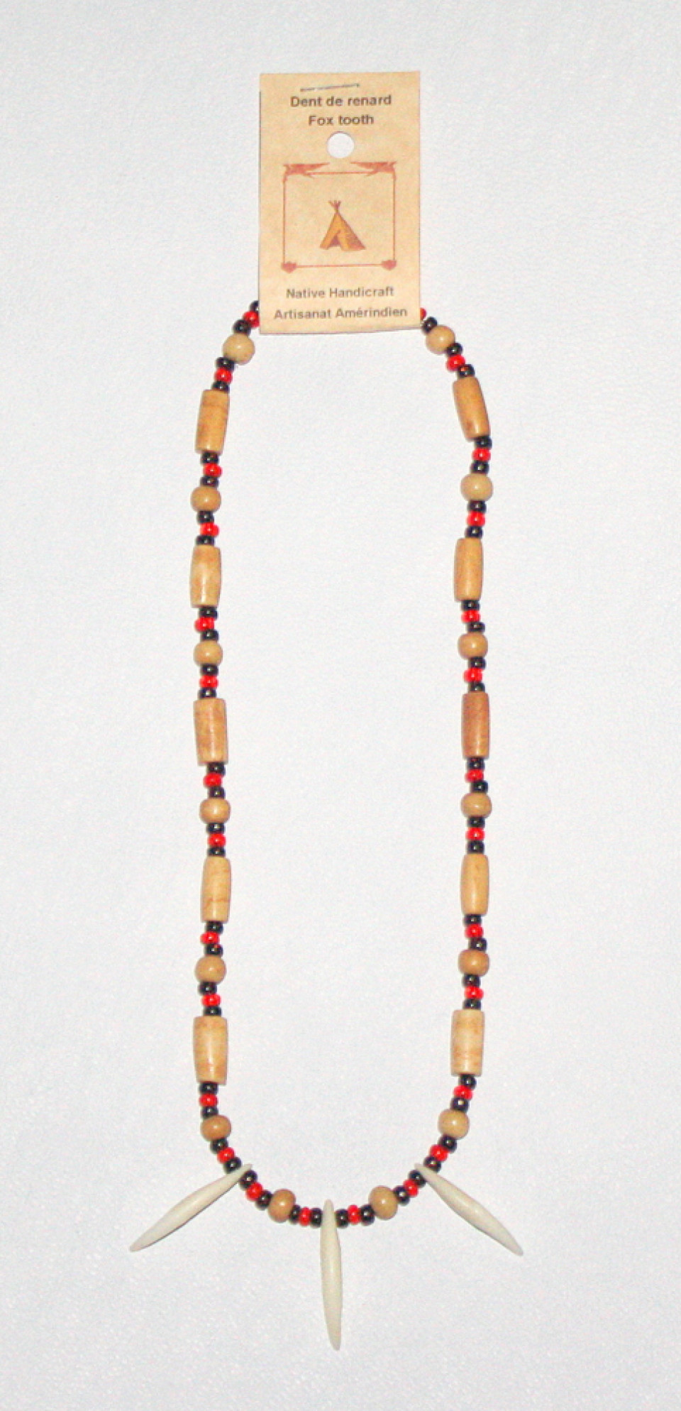Genuine Fox Tooth Necklace 228B