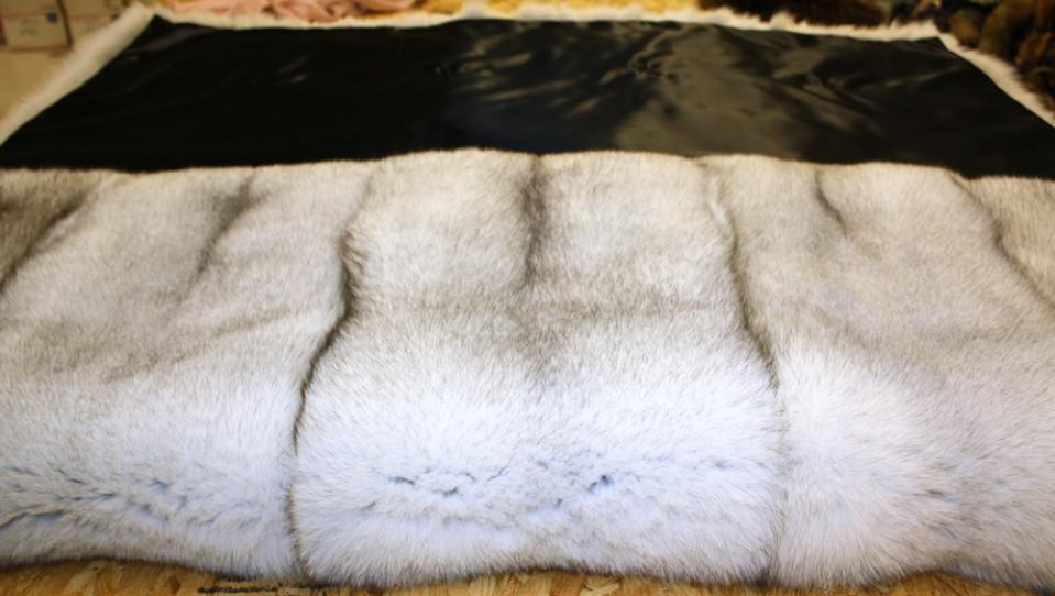 Glacier Wear Blue Fox Fur Blanket For Sale Adorable Real Mink Throw Blanket