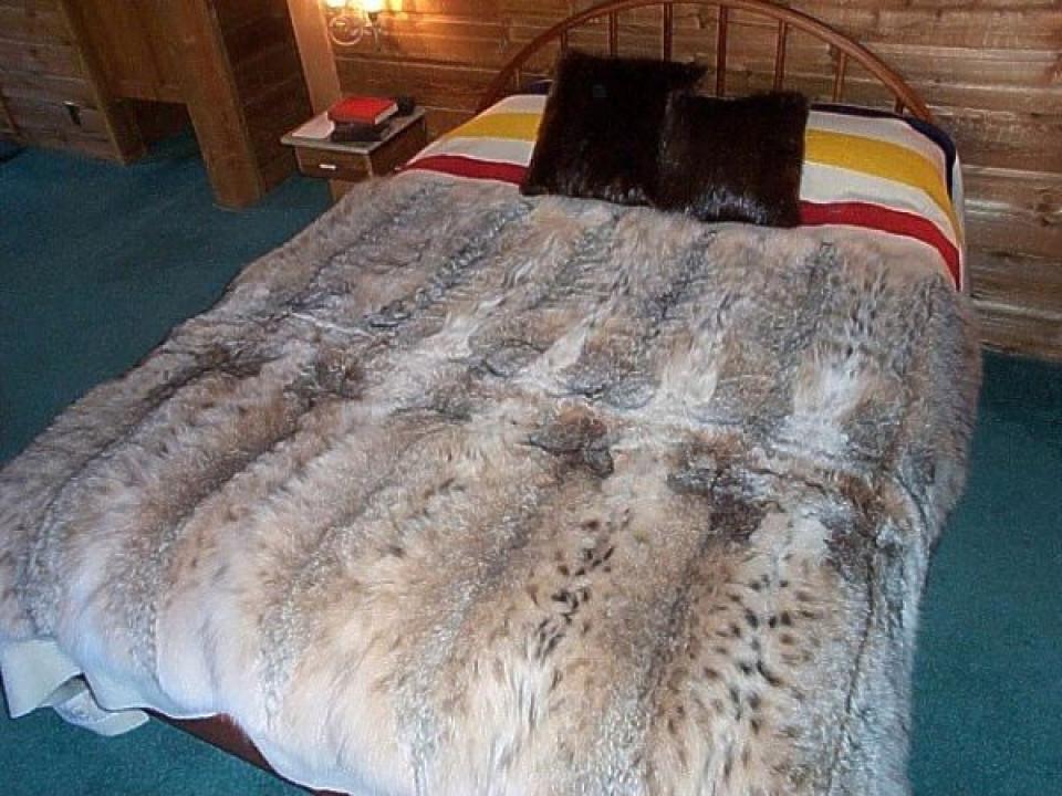 Glacier Wear Lynx Fur Blanket For Sale Amazing Real Mink Throw Blanket