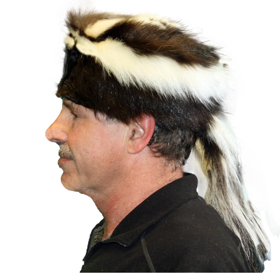 Glacier Wear - Skunk Davy Crockett Style Fur Hat For Sale 8948c4a89161